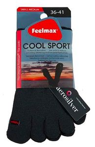 Feelmax Coolsport Black Sneaker - Low cut sock