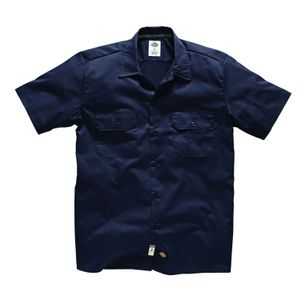 Dickies Short Sleeve Slim Work Shirt - Dark Navy