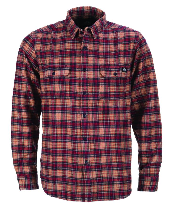 Dickies Seymour flannel shirt - Red